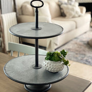Round Metal Tier Tray
