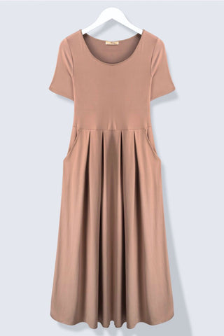 Pleated Pocket Dress