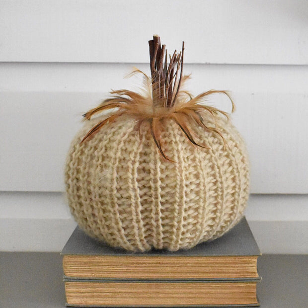 Cream Crochet Pumpkins