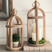 Beaded Wood Lanterns