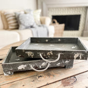 Distressed Gray Tray