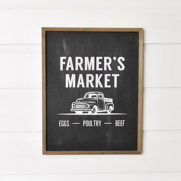 Farmer's Market Box Sign