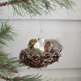Bird in Nest Ornament