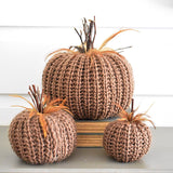 Brown Crochet Pumpkins