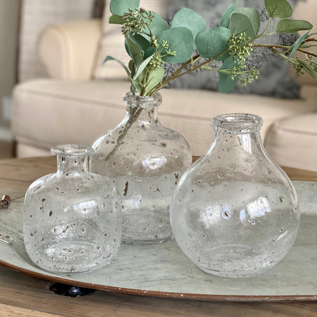 Textured Glass Vases