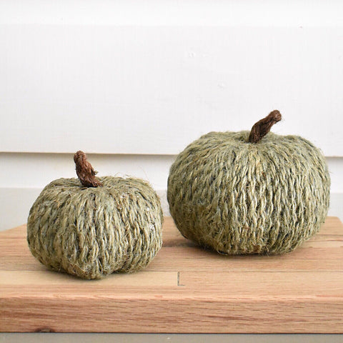 Gray Jute Pumpkins