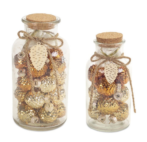 Pinecone Ornaments in Bottle