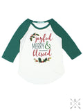 Joyful, Merry, Blessed Kids Tee