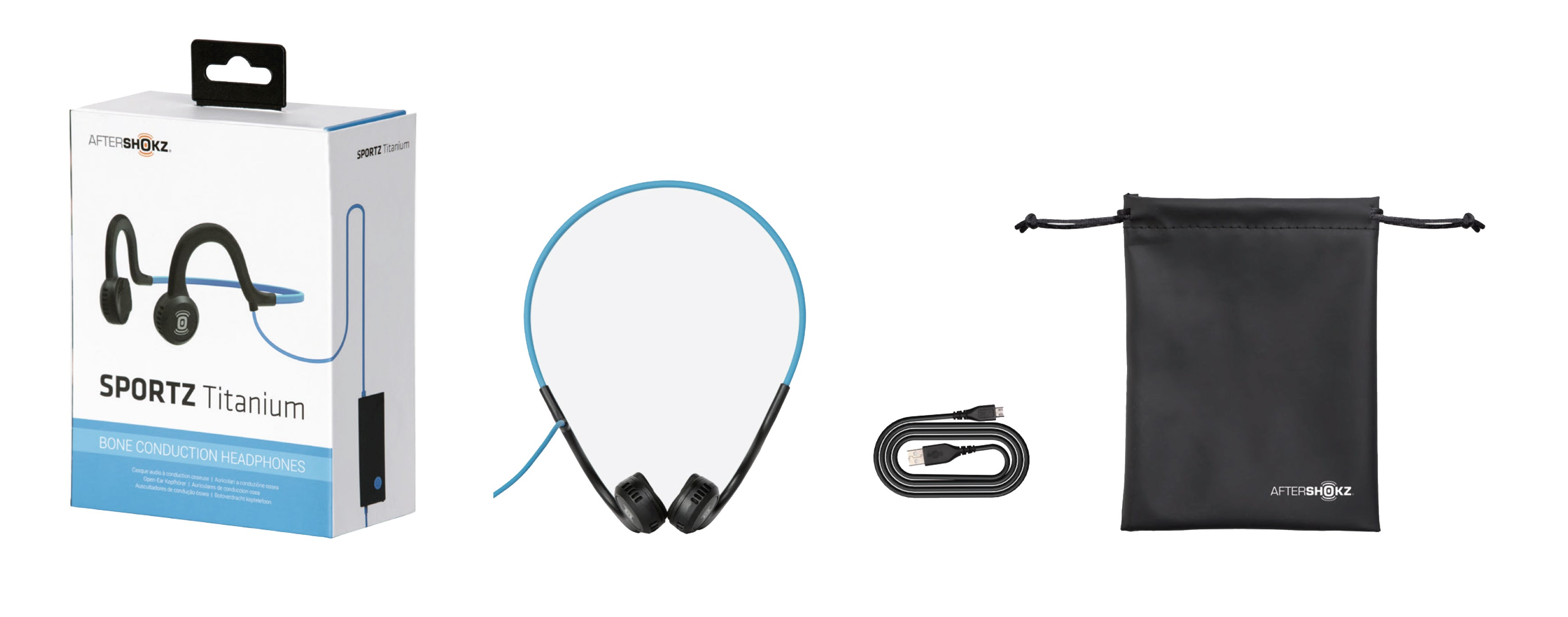 Sportz Titanium, Micro-usb charging cable, and portable pouch