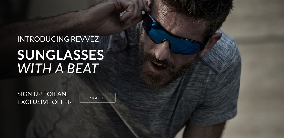 Introducing Revvez. Sunglasses with a beat. Click here to sign up for an exclusive offer.