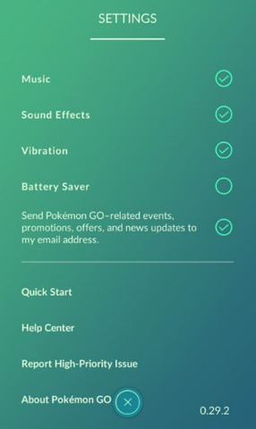 Pokemon Go Settings