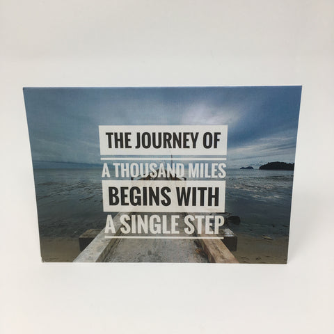 Inspirational Scenic Card - The Journey of a Thousand Miles