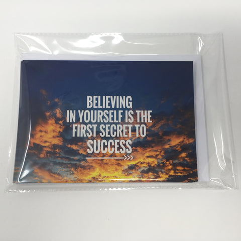 Inspirational Scenic Card - Believing in Yourself - Pack of 6