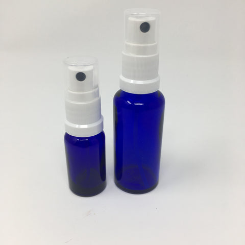 Blue Glass Atomiser - Various Sizes