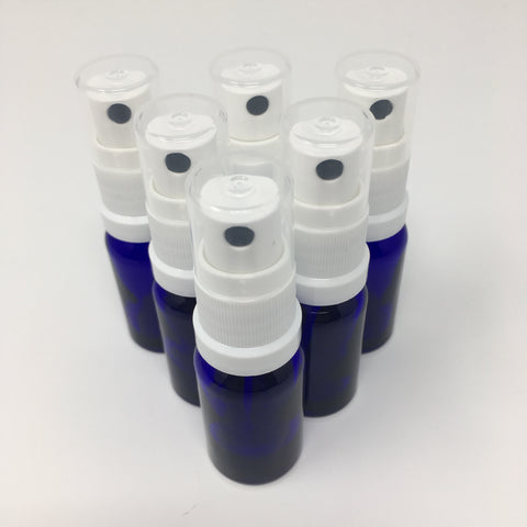 Blue Glass Atomiser - Various Sizes- Pack of 6
