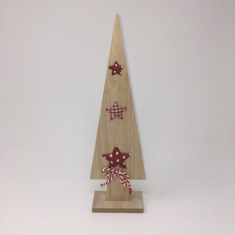 Wooden Xmas Tree with Star Decoration