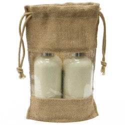 Jute Bag - Drawstring with Window