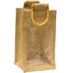 Jute Bag - Gift Bag with window