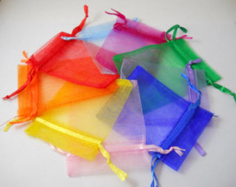 Organza Voile Premium Bags - Small - Various Colours