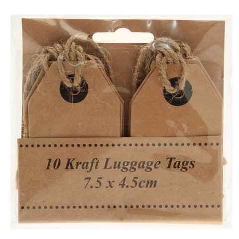 Kraft Luggage Tags