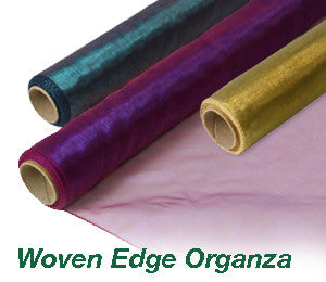 Woven Edge Organza Roll - Various Colours