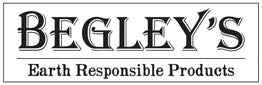 Begley's Earth Responsible Products logo, a company dedicated to creating all-natural cleaning solutions and other eco-friendly products