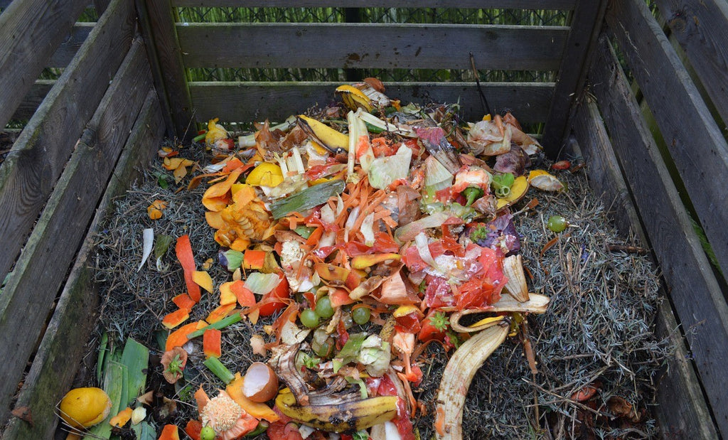 Organic waste pile ready to be made into compost and benefit local environment