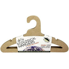 A pack of Ditto paper hangers, recyclable, tree-free. Sleek design allows for twice the closet space.