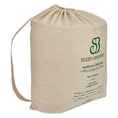 Sleep & Beyond myMerino organic wool comforter, in organic cotton case. Wool filling is hypoallergenic and wicks heat naturally.