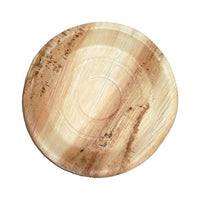 Palm Leaf Round Rimmed Plates