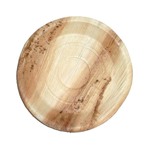 8 inches Palm Leaf Round Rimmed Plates