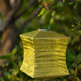 Soji Silk Effect Square Solar Lanterns