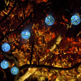 Aurora Glow Solar Glass String Lights