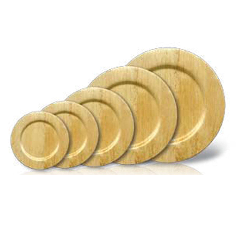 Bamboo Disposable Round Plates