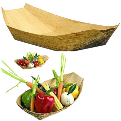Bamboo Disposable Food Boats