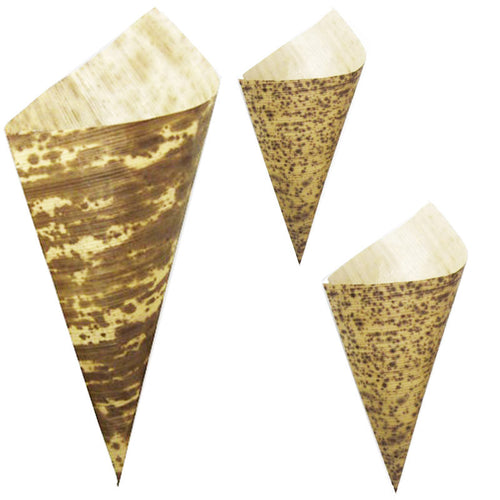 Bamboo Disposable Food Cones