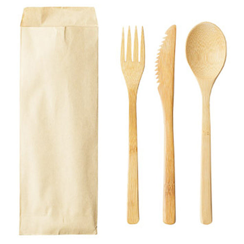 Reusable Solid Bamboo Utensil Sets