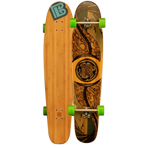Double Kick Mirrored Sea Bamboo Longboards