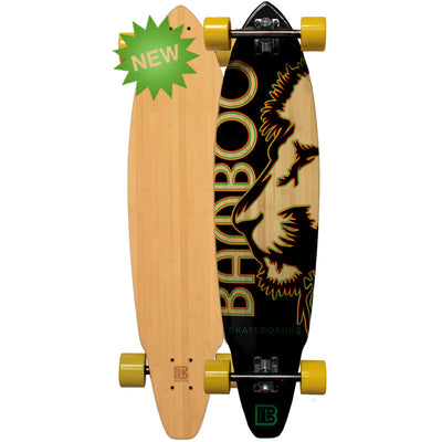 Square Tail Rasta Lion Bamboo Longboards
