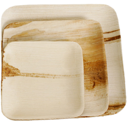 Palm Leaf Square Flat Plates