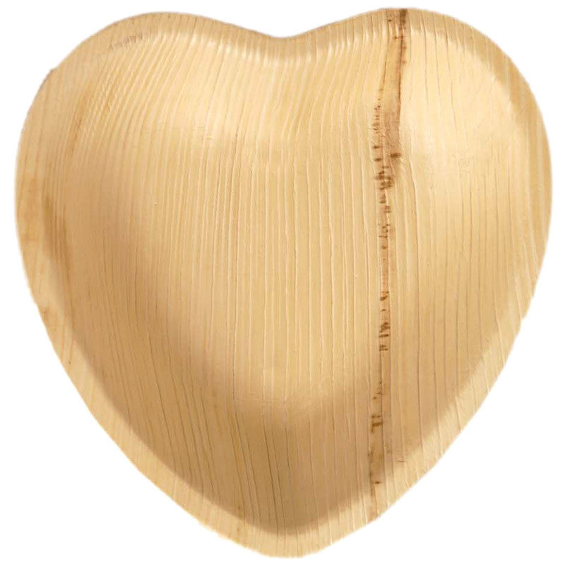 Palm Leaf Heart Plates