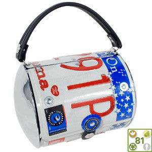 Super License Plate Cyclone Purse