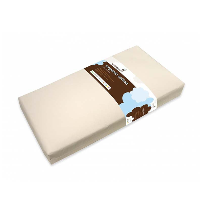 Naturepedic lightweight organic baby crib mattress.