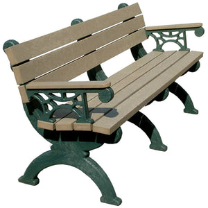 Monarque Backed Bench With Arms