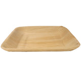 Palm Leaf Square Rimmed Plate 10 Inches