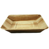 Palm Leaf Square Rimmed Plates