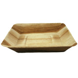 Palm Leaf Square Rimmed Plate 7 Inches
