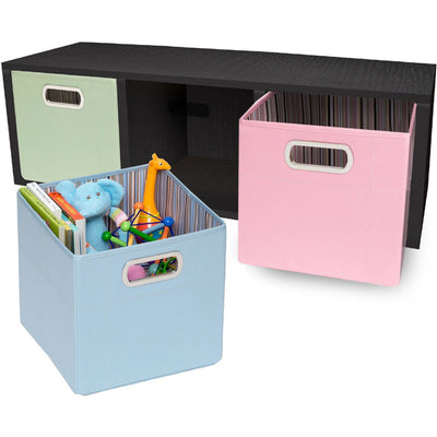 3 Cubby Stackable Storage Bench