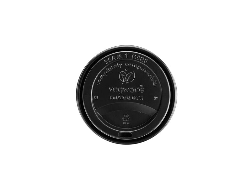 Vegware Hot Cup Lid Black