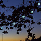Aurora Glow Solar Glass String Lights Clear with White LED by Allsop
